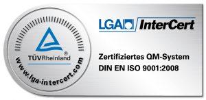Logo LGA InterCert DIN ISO Zertifizierung